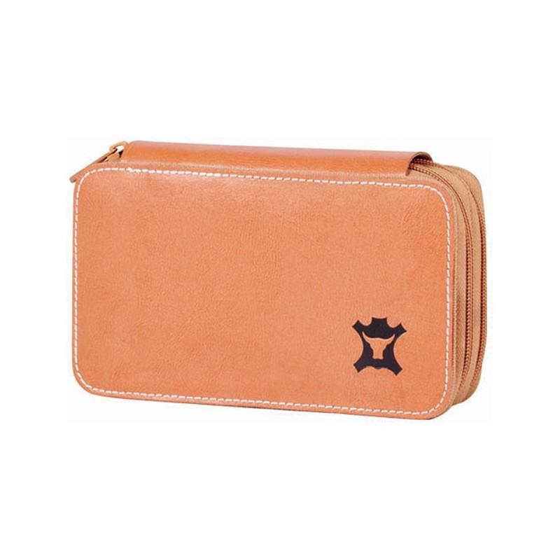 Penar Herlitz Echipat, 2 Compartimente, 20 Piese Genuine Leather