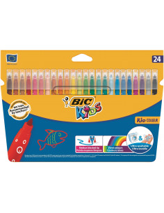 Carioci BIC ultralavabile Kid Couleur, 24 buc/set
