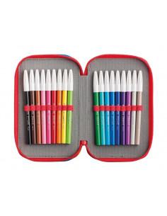 Penar Carioca Color Fabric cu trei compartimente