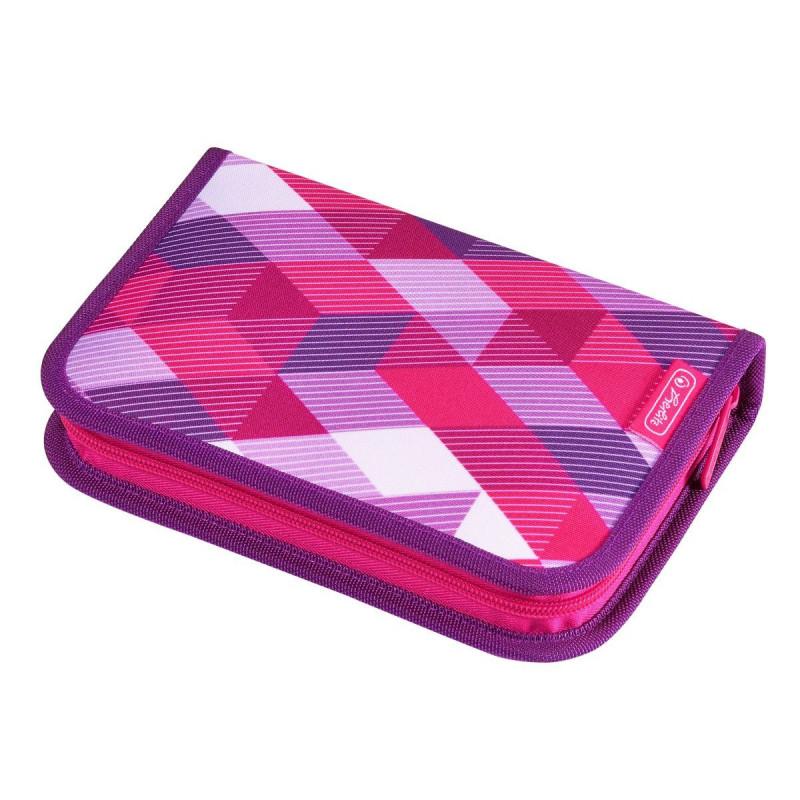 Penar Echipat Herlitz, 1 fermoar, 31 Piese, Motiv Pink Cubes