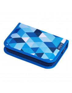 Penar Echipat Herlitz, 1 fermoar, 31 Piese, Motiv Blue Cubes