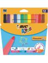 Carioci BIC lavabile Visacolor XL, 12 buc/set