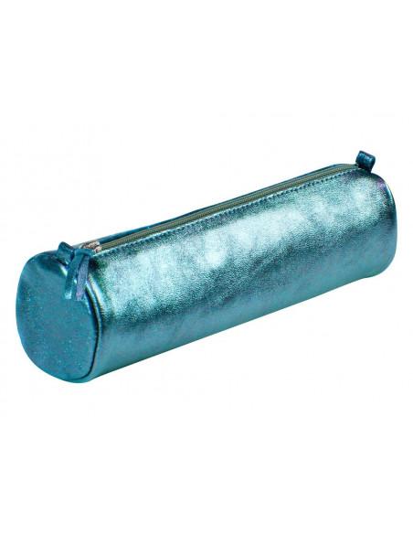 Penar cilindric din piele Cuirise, Turcoaz