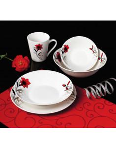 CANA PORTELAN 310 ML, RED FLOWERS,VANORA