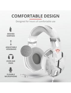 Casti cu microfon Trust GXT 322W Carus Gaming Headset - snow