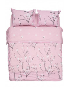 Lenjerie Heinner King Size BBC 4 piese, 132TC Pink