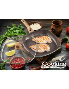 TIGAIE GRILL ALUMINIU + CAPAC, 28x4, GREEN NATURE, COOKING BY