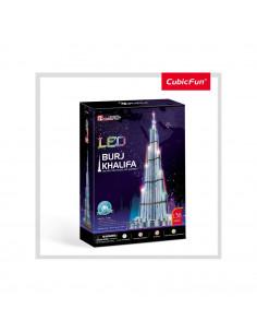 PUZZLE 3D LED BURJ KHALIFA 136 PIESE
