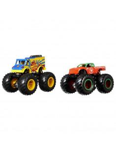 Set Hot Wheels by Mattel Monster Trucks Monster Patriot vs Tuon