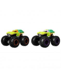 Set Hot Wheels by Mattel Monster Trucks Michelangelo vs