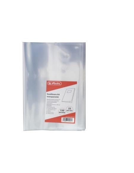 Invelitori Herlitz A4 PP, 120 microni, transparent
