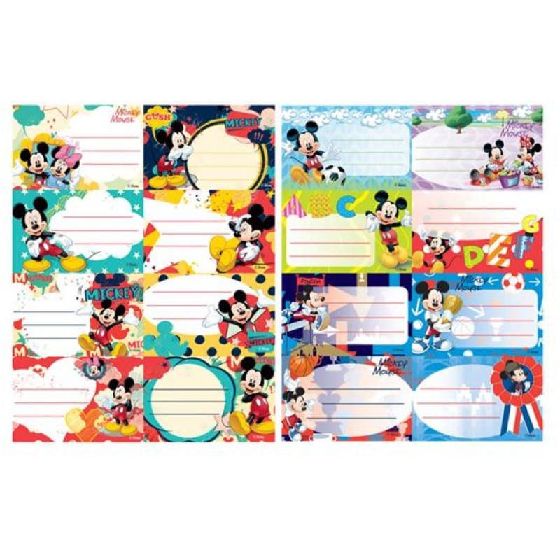 Etichete Scolare Pigna, 40/Set, Mickey