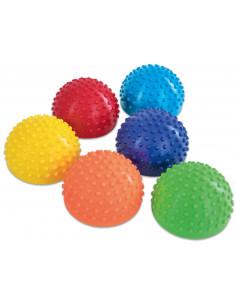 Semisfere de echilibru arici in culorile curcubeului, set de 6