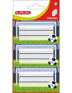 Etichete Scolare Herlitz Fotbal, Set 9