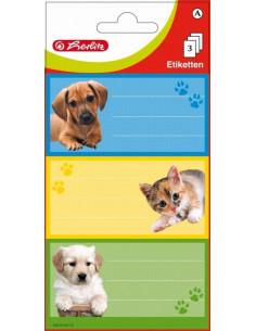 Etichete Scolare Herlitz Animale, Set 9