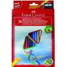 Creioane Colorate Eco Faber-Castell Triunghiulare +