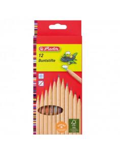 Creioane Colorate Herlitz, Set 12, Natur