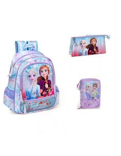 Set scoala Frozen - Ghiozdan, penar echipat, sac incaltaminte, pusculita