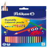 Creioane Colorate Pelikan Lacuite, Set 24 Culori, Varf 30 mm