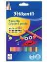 Creioane Colorate Pelikan Lacuite, Set 36 Culori, Sectiune