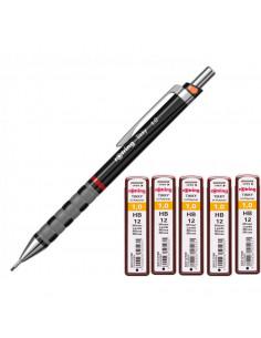Set Creion mecanic Rotring Tikky 1 mm + 5 Seturi rezerva 1 mm (12 mine/cutie)