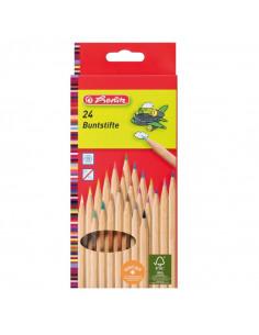 Creioane Colorate Herlitz, 1/1 Set 24, Natur