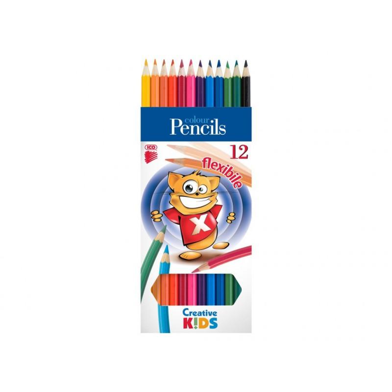 Creioane Colorate Creative Kids Flexibile