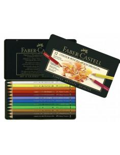 Creioane Colorate Faber-Castell Polychromos, 12 Culori, Cutie