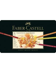 Creioane Colorate Faber-Castell Polychromos, 36 Culori, Cutie Metal