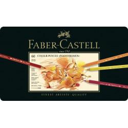 Creioane Colorate Faber-Castell Polychromos, 60 Culori, Cutie Metal