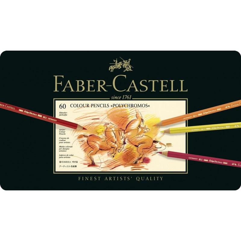 Creioane Colorate Faber-Castell Polychromos, 60 Culori, Cutie