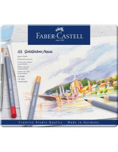 Creioane Colorate Faber-Castell Aquarelle Goldfaber, 48 Culori
