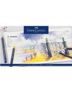 Creioane Colorate Faber-Castell Goldfaber, 36 Culori, Cutie Metal