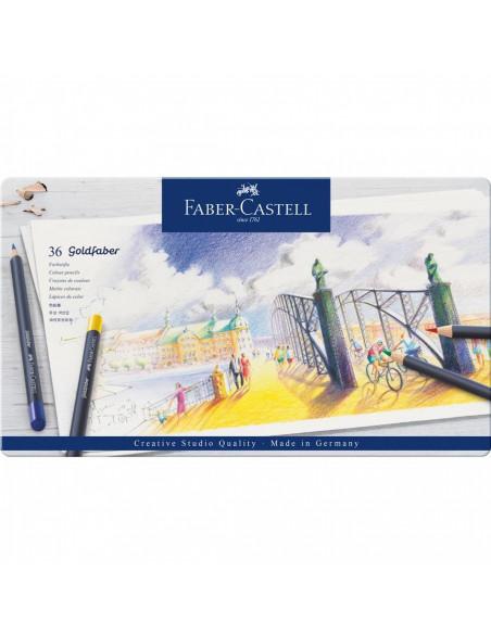 Creioane Colorate Faber-Castell Goldfaber, 36 Culori, Cutie