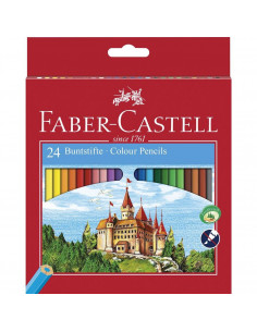 Creioane Colorate Eco Faber-Castell, 24 culori