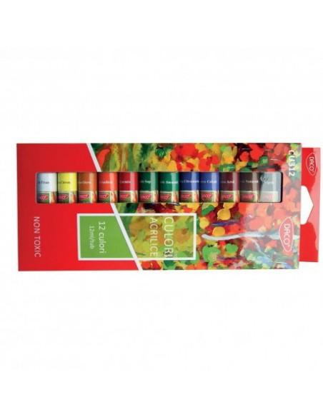Culori acrilice Daco Set 12 culori