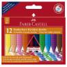 Creioane Colorate Plastic Faber-Castell, 12 culori jumbo