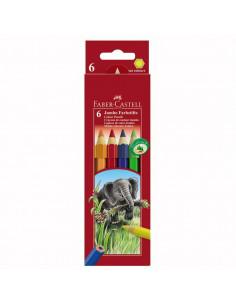 Creioane Colorate Jumbo Faber-Castell, 6 culori
