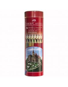Creioane Colorate Faber-Castell In Tub, 12 culori