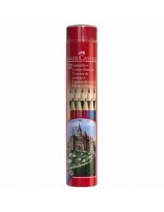 Creioane Colorate Faber-Castell In Tub, 24 culori