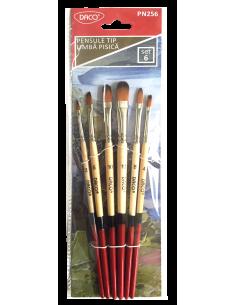 Pensula Set 6 Par Sintetic Tip Limba Pisica Daco Pn256