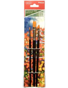 Pensula Set 3 Par Sintetic Drept Daco Pn223