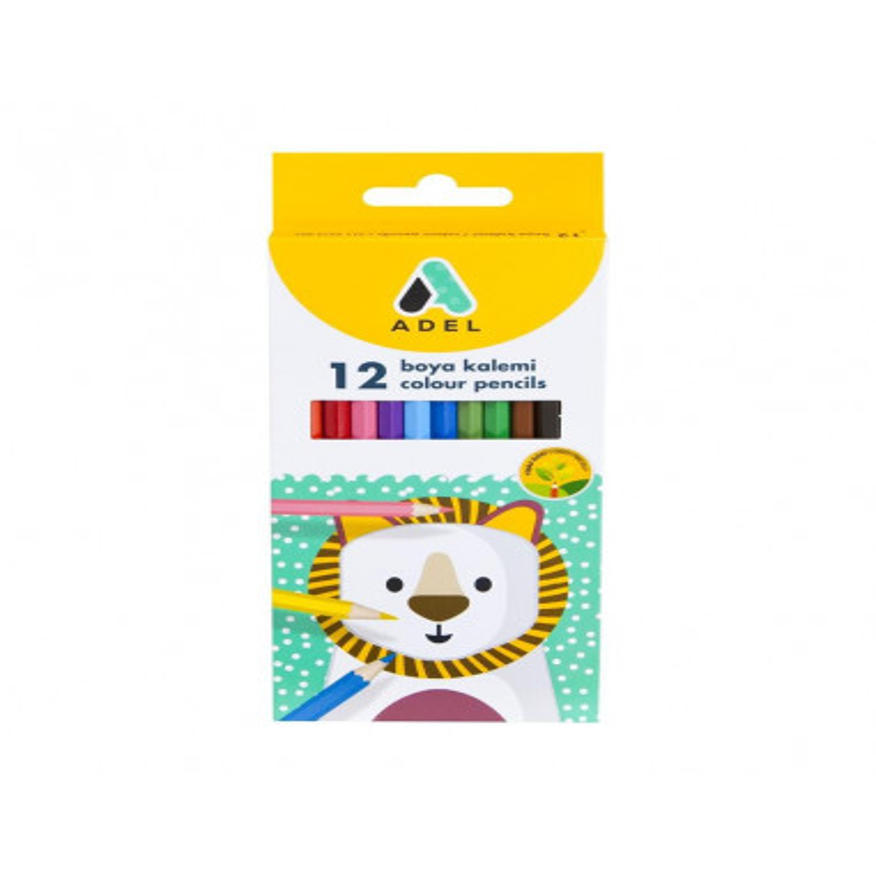 Creioane Colorate Adel, 12 culori