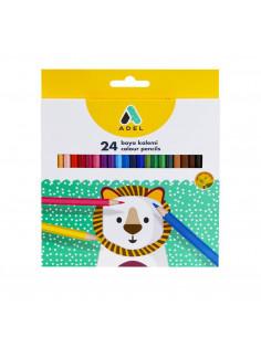 Creioane Colorate Adel, 24 culori