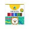 Creioane Colorate Scurte Adel, 12 culori