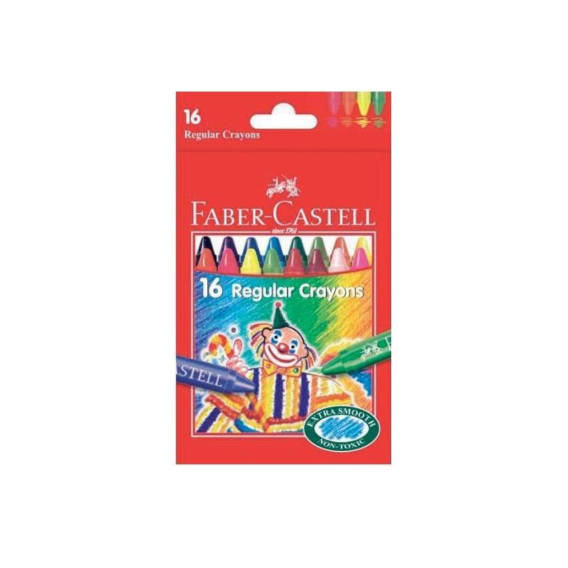 Creioane Cerate Faber-Castell Clown, 16 culori