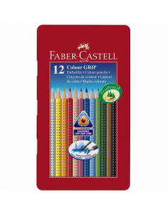 Creioane Colorate Faber-Castell Grip 2001, 36 culori, cutie