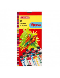 Tempera Herlitz, 16 ml 10 Culori/Set
