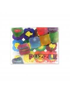 Culori Tempera Daco, 12 Culori Puzzle