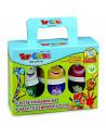 Set tempera pentru degete Toy Color 80ml, 6 culori